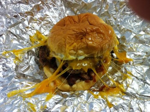 Tasty burger at Dorothy Moon's