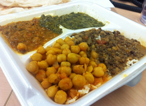 Indian veggies on rice