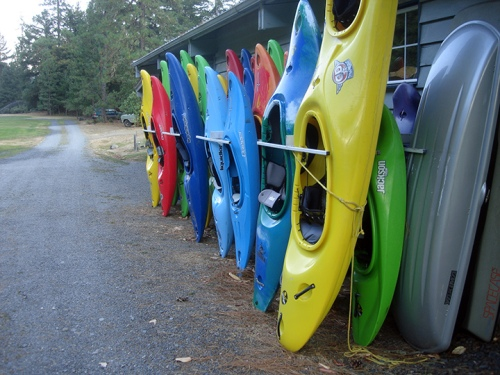 Hint: Those are kayaks