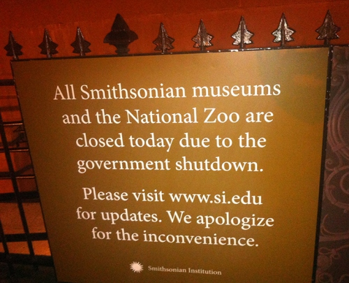 That's a fancy sign for just one shut-down. Expecting more?