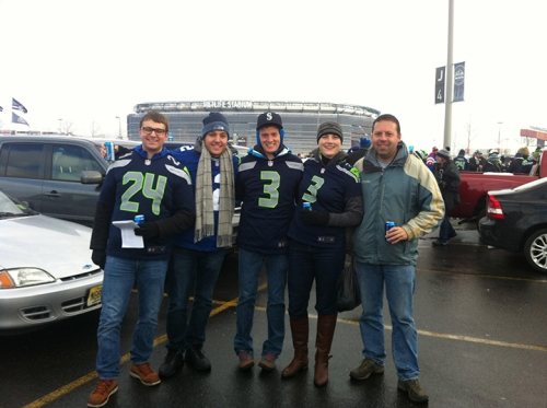 Tailgating in frigid New Jersey