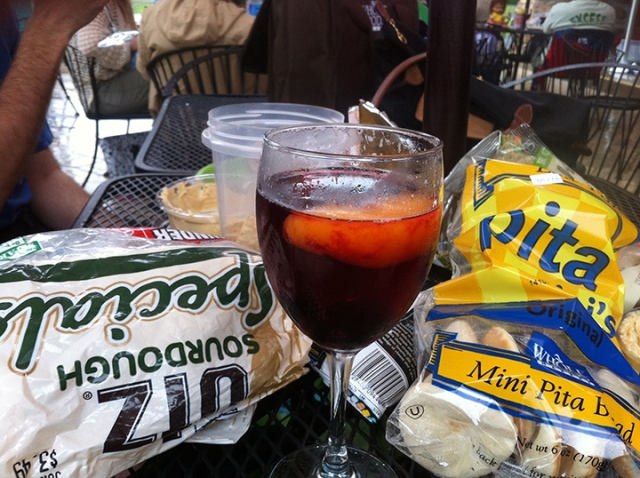 Don't mind if I do. Post Sugarloaf Mountain hike sangria.