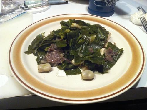 Boiled greens