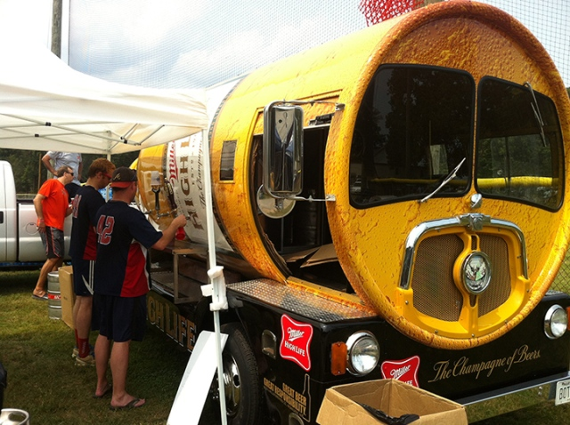 A beer truck won't drink itself.