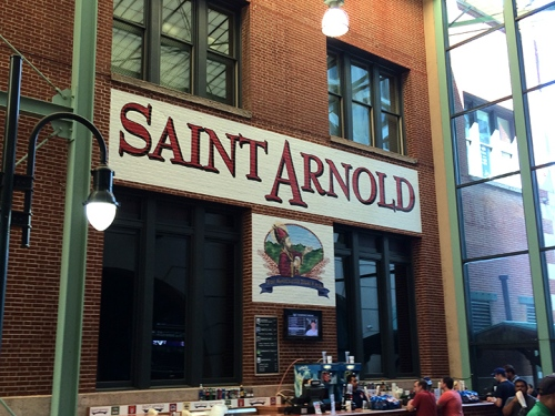 Saint Arnold at the ballpark