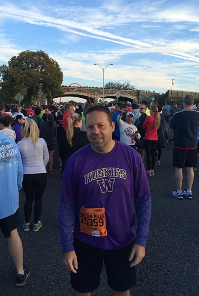 Getting pumped to run the Army 10-miler.