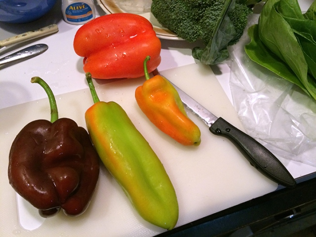 Hey there, I like the shape of your peppers...