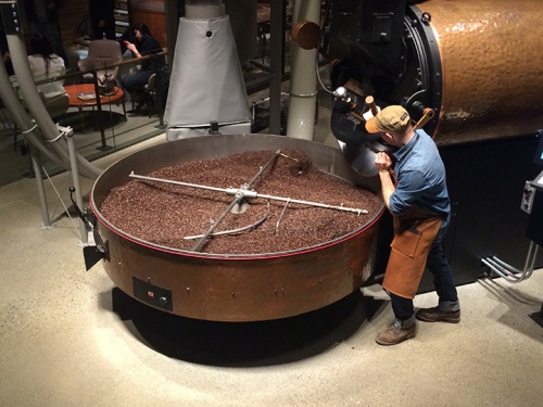 Getting busy at the Starbucks Reserve Roastery & Tasting Room